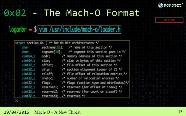 1829/04/2016 Mach-O – A New Threat 0x03 – Tools (Static / Dynamic)