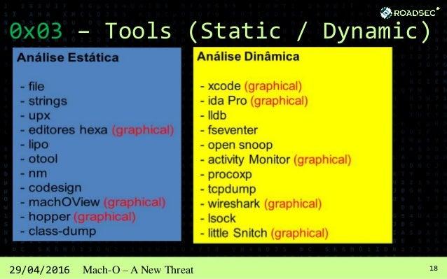 1929/04/2016 Mach-O – A New Threat 0x03 – Tools (Static) FILE mach-o