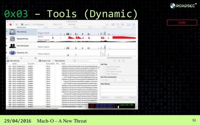 3329/04/2016 Mach-O – A New Threat 0x03 – Tools (Dynamic) IDA PRO Also is Static Tool