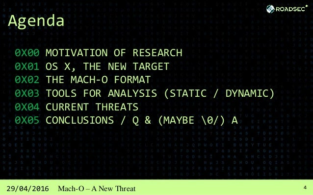 529/04/2016 Mach-O – A New Threat 0x00 - Motivation of Research Windows always gets infected!!! Does Linux ever gets infec...