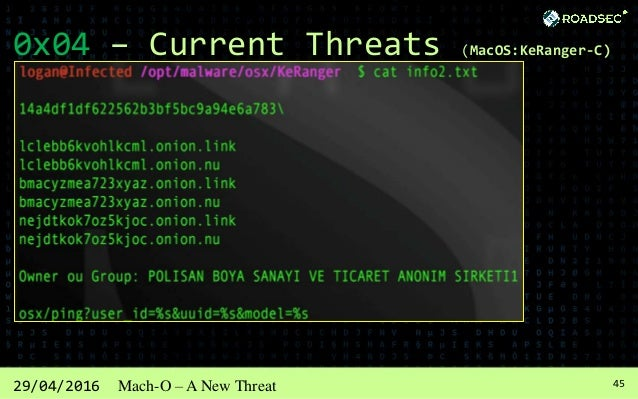 4629/04/2016 Mach-O – A New Threat 0x05 - Conclusions Hacking is a way of life