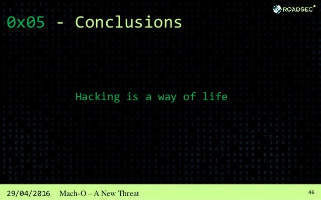 4729/04/2016 Mach-O – A New Threat Reference Sarah Edwards REVERSE Engineering Mac Malware - Defcon 22 https://www.defcon....