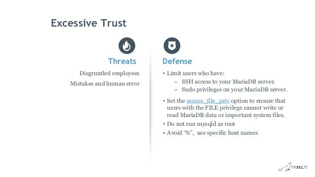Database Security Threats - MariaDB Security Best Practices