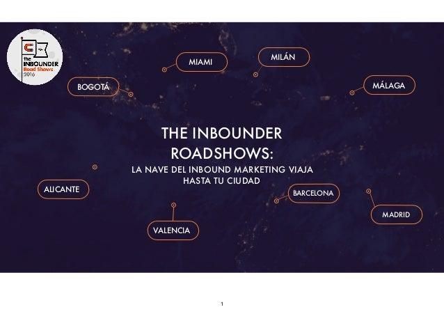 1 BOGOTÁ MIAMI MILÁN ALICANTE MÁLAGA VALENCIA BARCELONA MADRID THE INBOUNDER ROADSHOWS: LA NAVE DEL INBOUND MARKETING VIAJ...