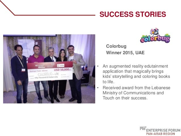 Colorbug Winner 2015, UAE • An augmented reality edutainment application that magically brings kids' storytelling and colo...