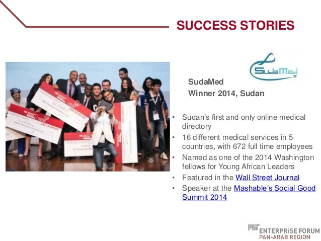 SudaMed Winner 2014, Sudan • Sudan's first and only online medical directory • 16 different medical services in 5 countrie...