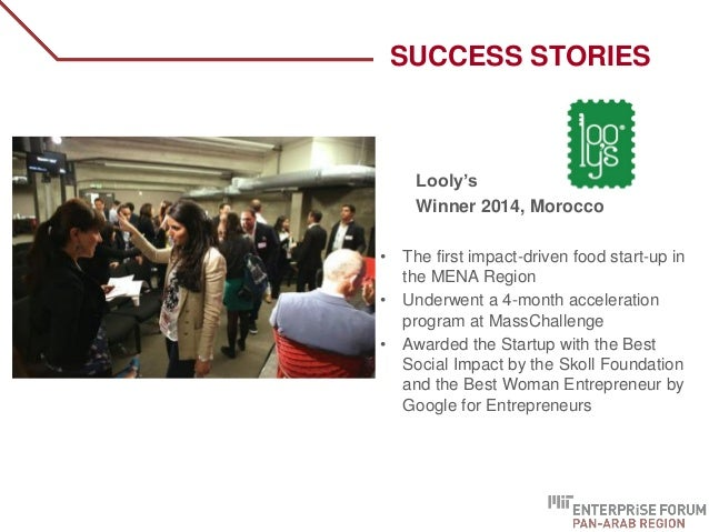 Looly's Winner 2014, Morocco • The first impact-driven food start-up in the MENA Region • Underwent a 4-month acceleration...