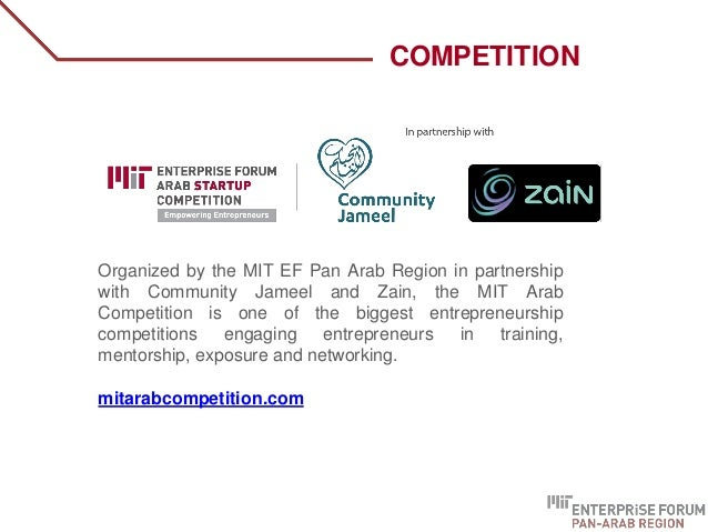Organized by the MIT EF Pan Arab Region in partnership with Community Jameel and Zain, the MIT Arab Competition is one of ...