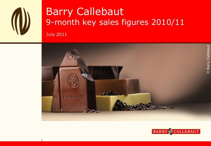 Barry Callebaut9-month key sales figures 2010/11July 2011