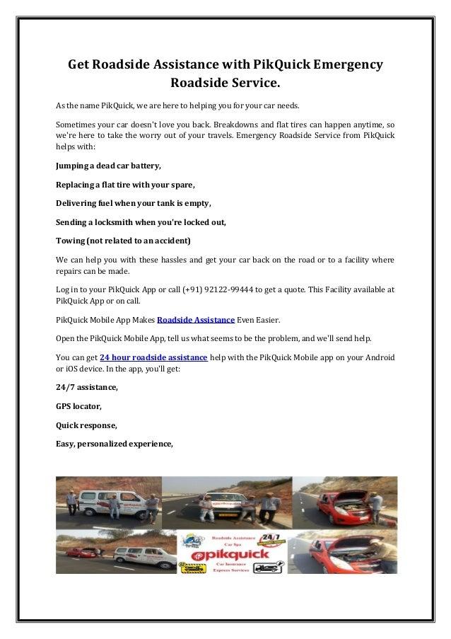 Emergency Roadside Service >> Roadside Assistance With Pik Quick Emergency Roadside Service