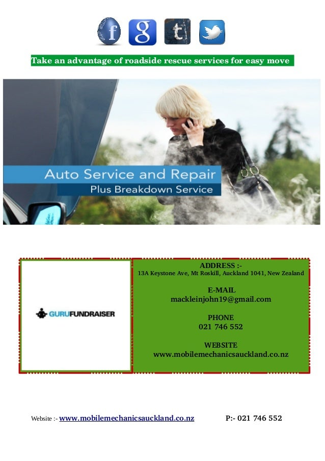 Take an advantage of roadside rescue services for easy move Website :- www.mobilemechanicsauckland.co.nz              P:­ ...