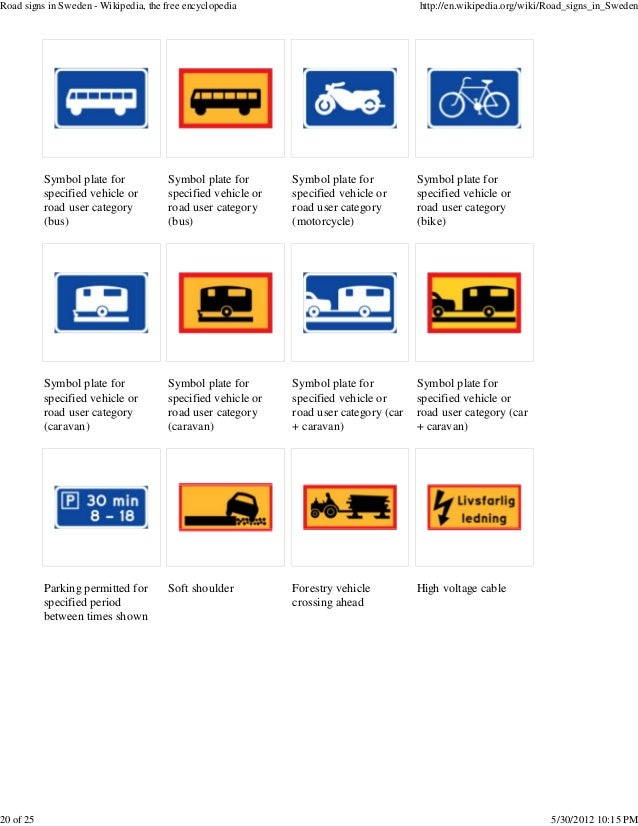 20 Road Signs In Sweden