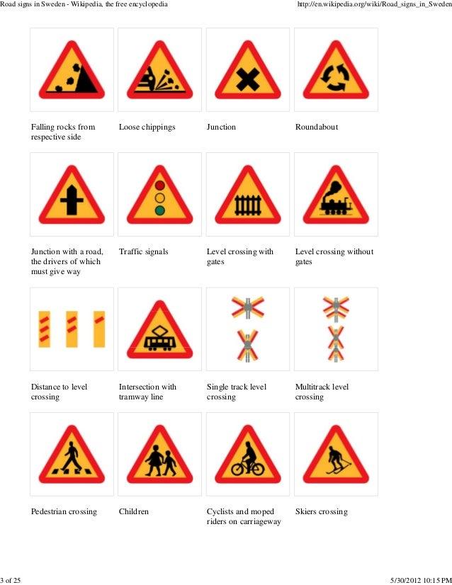 3 Road Signs In Sweden