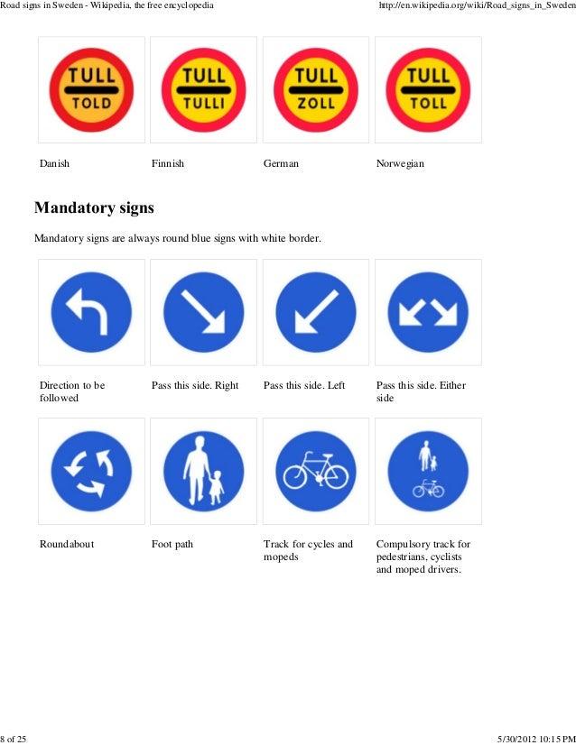 Road Signs In Sweden
