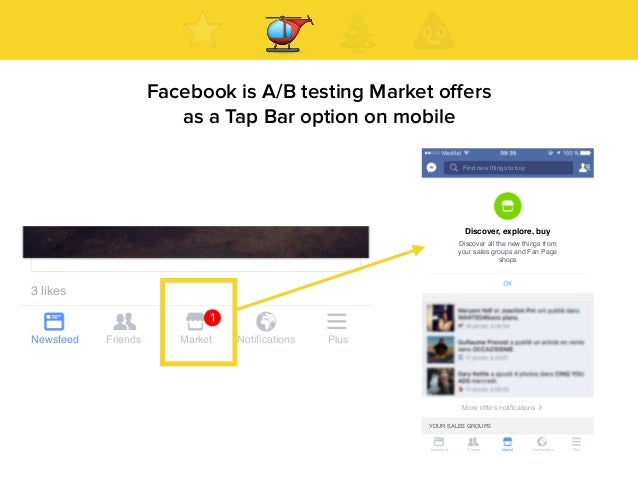 ' Facebook is A/B testing Market offers