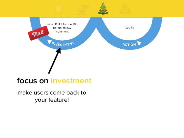 focus on investment make users come back to your feature!
