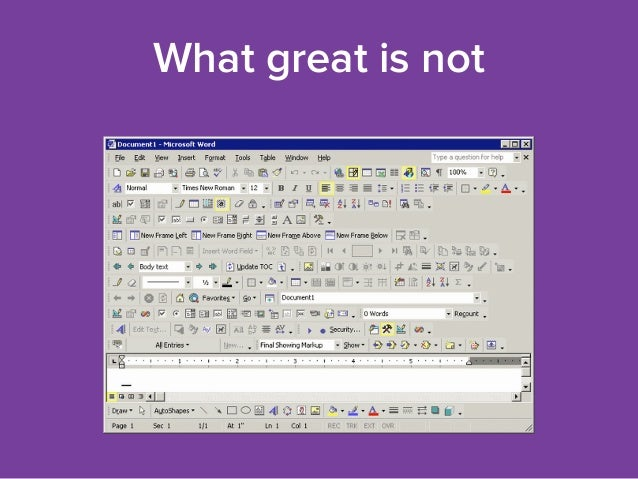 What great is not