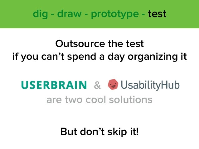 Outsource the test 