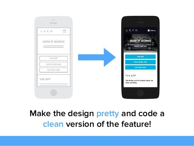 Make the design pretty and code a clean version of the feature!