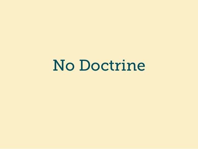 No Doctrine