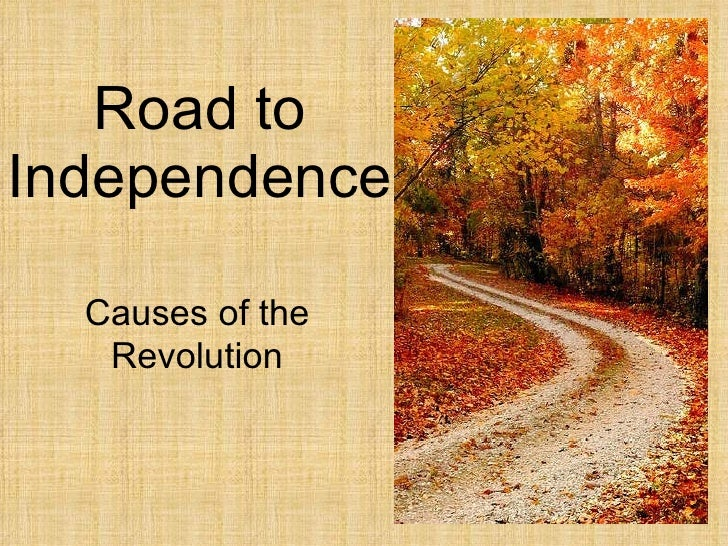 Road to Independence Causes of the Revolution
