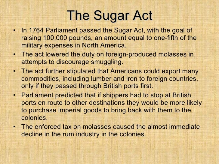 an introduction to the history of the sugar act of 1764 Introduction two of the major events commonly regarded as preludes to the american revolution were the enactment of the sugar act (1764) and the stamp act (1765.