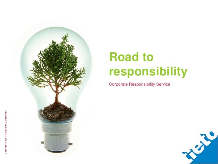 Road to                                             responsibility                                             Corporate R...