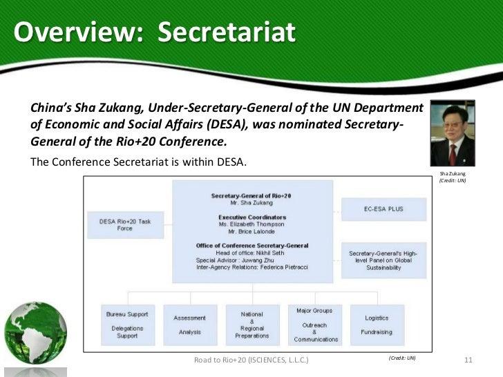 Overview: Secretariat China's Sha Zukang, Under-Secretary-General of the UN Department of Economic and Social Affairs (DES...
