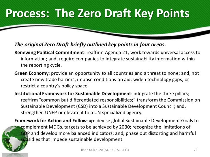 Process: The Zero Draft Key Points The original Zero Draft briefly outlined key points in four areas. Renewing Political C...
