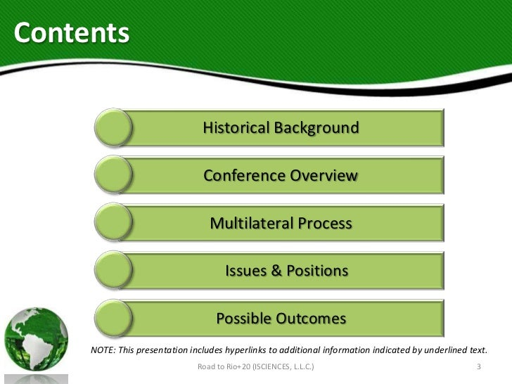 Contents                                Historical Background                                 Conference Overview         ...