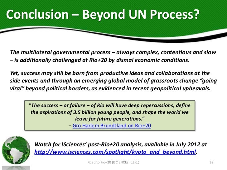 Conclusion – Beyond UN Process?The multilateral governmental process – always complex, contentious and slow– is additional...