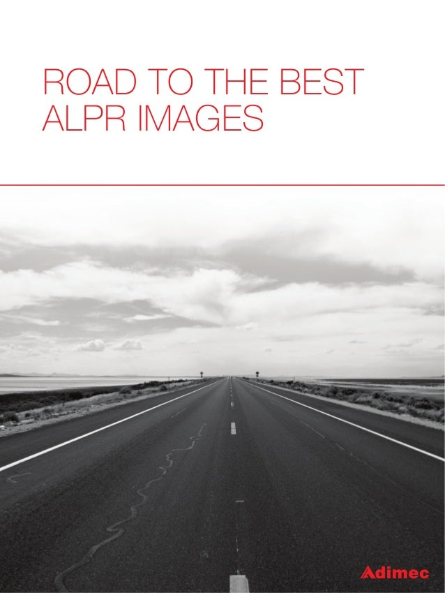 ROAD TO THE BEST ALPR IMAGES