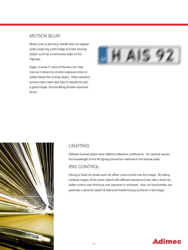 MOTION BLUR Motion blur is the fuzzy details that can appear when capturing a still image of a fast moving object, such as...