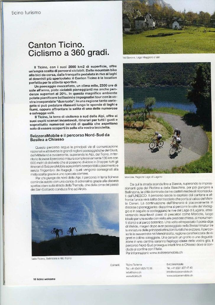 Road to Wellness Ticino Welcome Maggio 2010