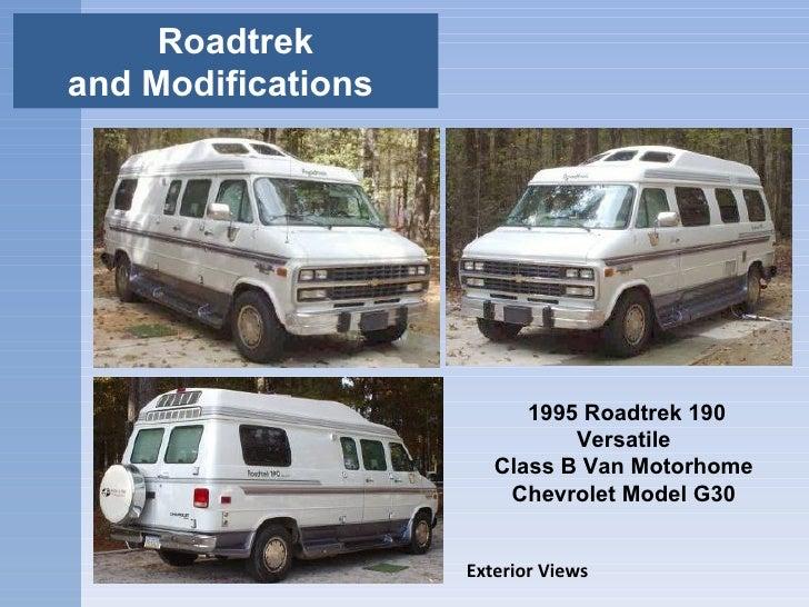 Roadtrek and Modifications  1995 Roadtrek 190 Versatile  Class B Van Motorhome  Chevrolet Model G30  Exterior Views