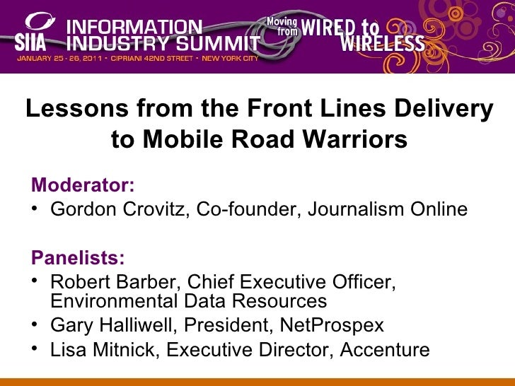 <ul><li>Moderator: </li></ul><ul><li>Gordon Crovitz, Co-founder, Journalism Online </li></ul><ul><li>Panelists: </li></ul>...