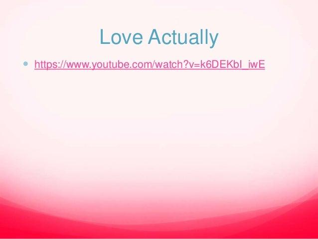 Romance: Love Actually - Opening Analysis Slide 3