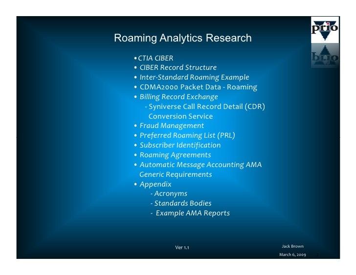 Roaming Analytics Platform V11