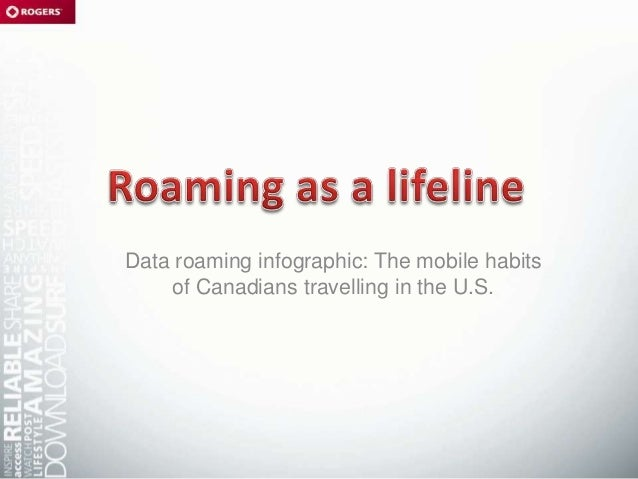Data roaming infographic: The mobile habitsof Canadians travelling in the U.S.