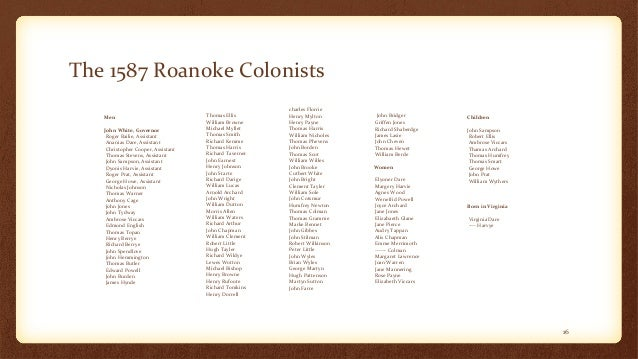 lost colony dna project The lost colony of roanoke dna project was founded by a group led by roberta estes in 2005 in order to solve the mystery of the lost colony of roanoke using historical records, migration patterns, oral histories and dna testing in 1587, sir walter raleigh sent out over 100 men, women, and.