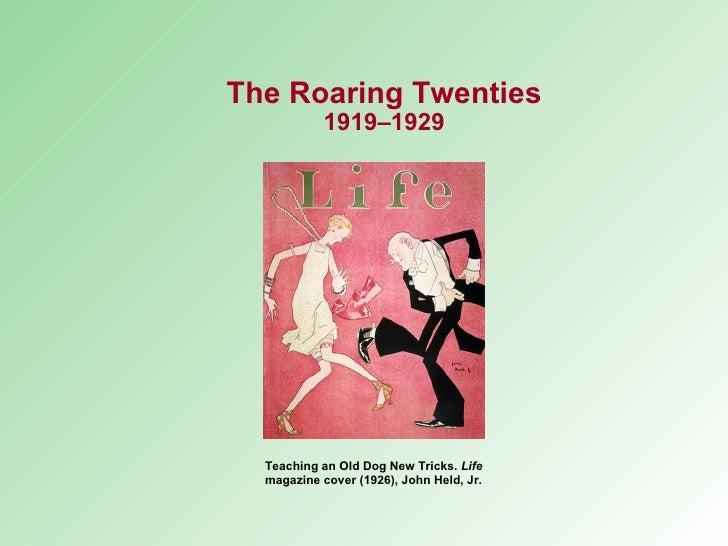 Teaching an Old Dog New Tricks.  Life  magazine cover (1926), John Held, Jr. The Roaring Twenties 1919–1929