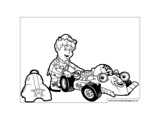 Roary the racing car Colouring Pages and Kids Colouring