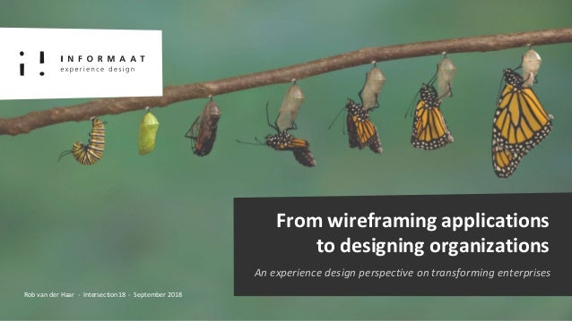 From wireframing applications to designing organizations An experience design perspective on transforming enterprises Rob ...