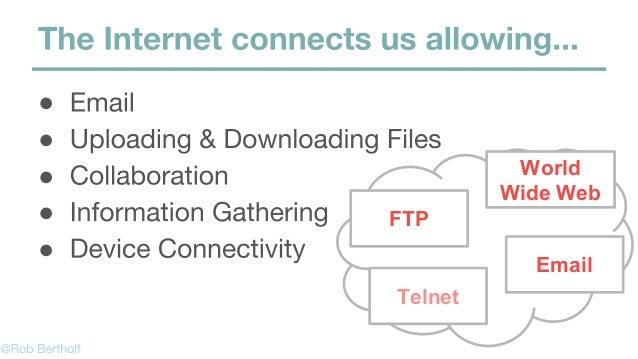 ● ● ● ● ● World Wide Web FTP Email Telnet