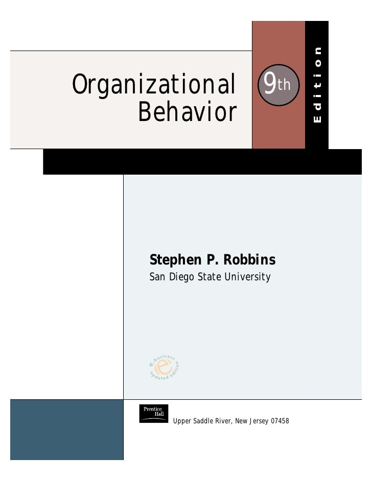 organisational behaviour report Organizational behavior is the study of human behavior within an organization, says industrial/organizational psychologist and college of st scholastica assistant professor of management lynn kalnbach, phd i sometimes tell people that it is the application of psychology in the workplace or any organization.