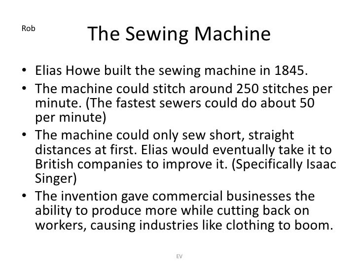 History Of Sewing Machine Timeline Fascinating Inventions Of The Adorable The Timeline Of The Sewing Machine