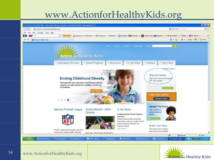 www.ActionforHealthyKids.org