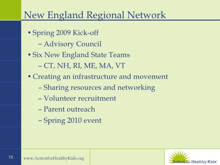 New England Regional Network  <ul><li>Spring 2009 Kick-off  </li></ul><ul><ul><li>Advisory Council  </li></ul></ul><ul><li...