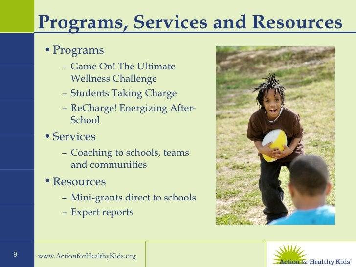 Programs, Services and Resources <ul><li>Programs </li></ul><ul><ul><li>Game On! The Ultimate Wellness Challenge </li></ul...