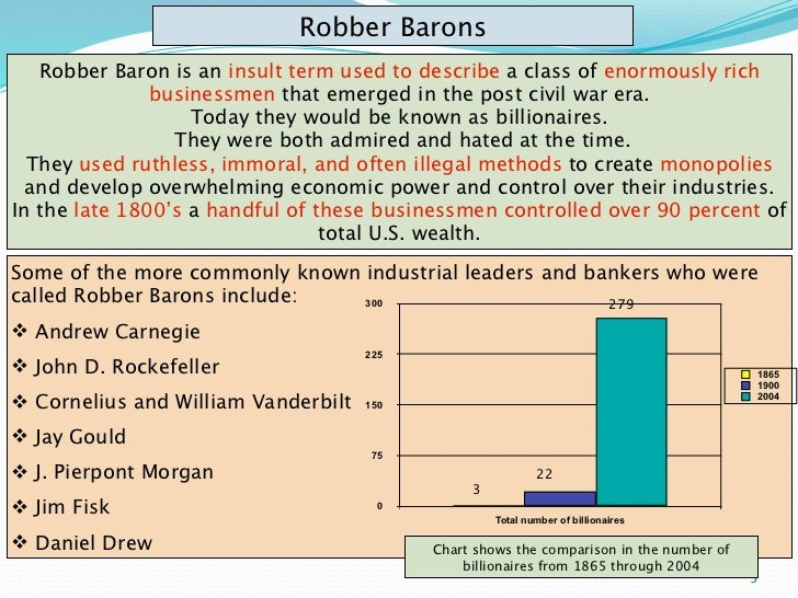 robber barons or industrial statesmen Historical perspectives: industrial statesmen or robber barons middle-class americans who enjoyed the benefits of increased industrial production, new consumer goods, and a higher standard of living generally admired the business leaders of the age, viewing them as great industrial statesmen.